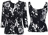 Alex Evenings Plus Size 4211414 Twin Set -Size: 2X Color Black