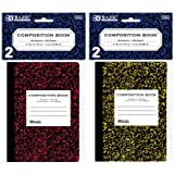 BAZIC Mini Marble Composition Book, 4.5 x 3.25 Inch, 80 Sheets (2 Books Per Pack) [ Colors May Vary]