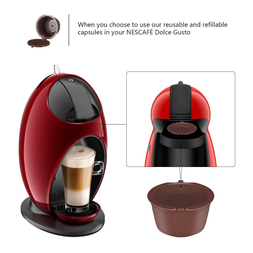 OurLeeme Recargable Reutilizables Dolce Gusto Cã¡psulas de Cafã© Nescafé Compatible con Genio, Piccolo, esperta y Circolo