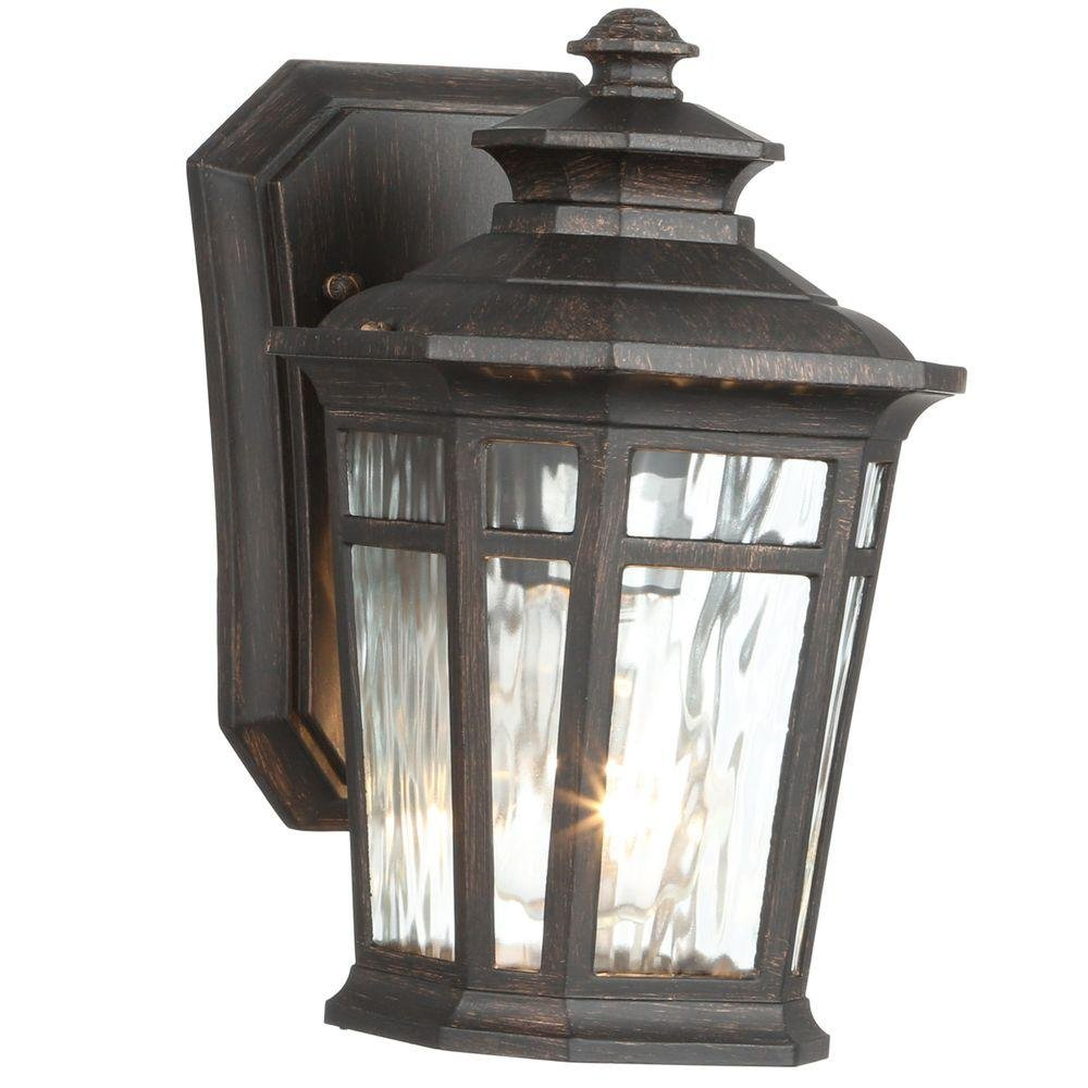 Home Decorators Collection Waterton 1-light Outdoor Dark Ridge Bronze Wall Lantern