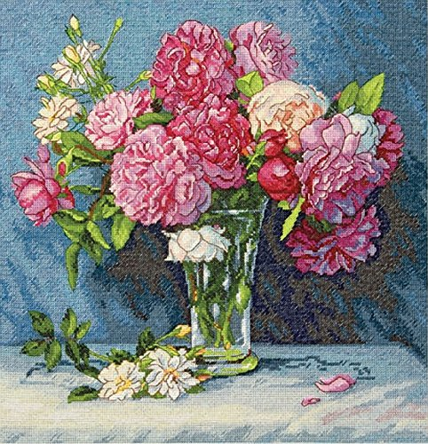 Mary Gold Flower - Dimensions Gold Collection Counted Cross Stitch Kit, Mary's Bouquet