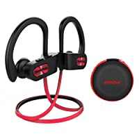 Mpow Cuffie Bluetooth 4.1 Sport IPX7 CVC 6.0, Auricolari Bluetooth Impermeabile, Cuffie Bluetooth In-Ear AptX, CVC 6.0 Cancellazione del Rumore con EVA Borsa per iPhone 8,X,7, 7 Plus, 6s, 6s Plus, 6, 6 Plus, Samsung, Huawei, Sony ecc