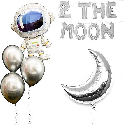 Amazon.com: Globos de fiesta espacial, diseño de la luna con ...