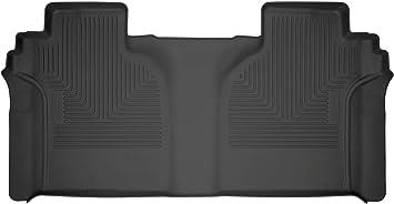 Husky Liners 14201 Second Black 2nd Seat Floor Liner Fits 2019 Silverado//Sierra 1500 Crew Cab