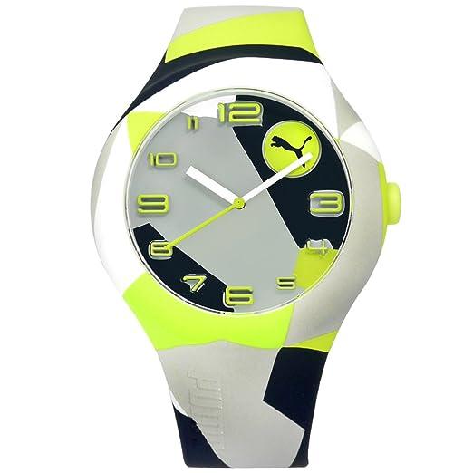 Puma Reloj Analógico para Hombre de Cuarzo con Correa en Silicona PU103211033: Amazon.es: Relojes