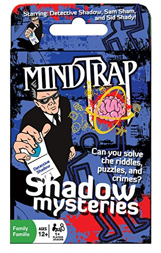 Outset Media - Mind Trap Shadow Mysteries - The Ultimate Crime Mystery Card Game - Includes 54 Cards, Ages (Crime Mystery Game)