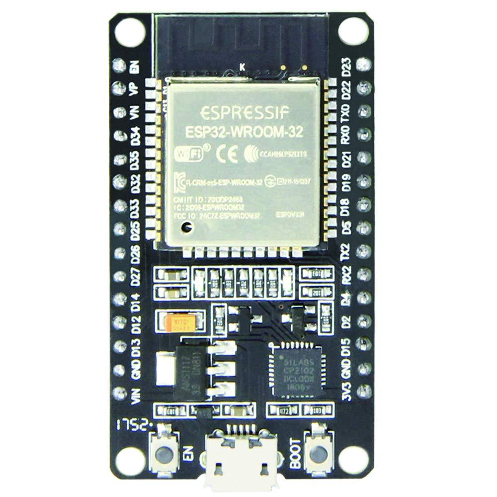 1 Pack antenne RF Amp filtre AP STA Arduino IDE SP-Cow ESP-32S ESP32 Carte de d/éveloppement Antenne Module 2.4GHz WiFi+Bluetooth 2-en-1 Dual Core avec d/énergie Ultra Basse