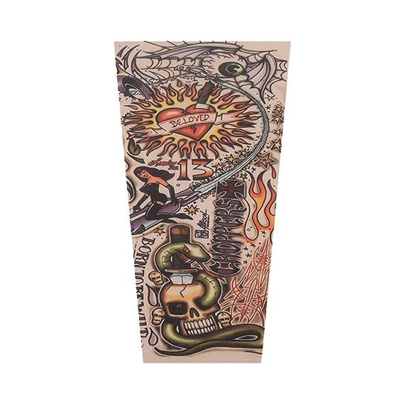 1 par de mangas de halloween de tatuaje fiesta festiva tatuaje ...