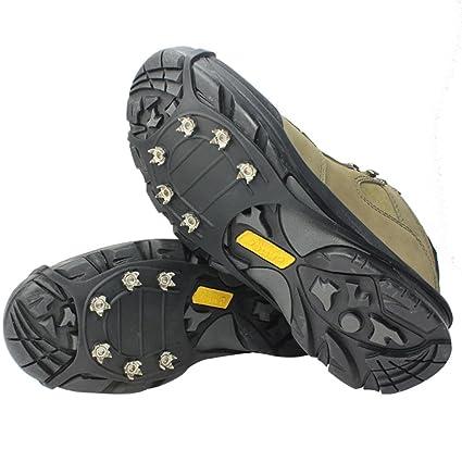 lylbz Ice klampen tracción antideslizante través Zapatos/zapatillas 6 tacos Nieve Ice Grips Crampones Tacos