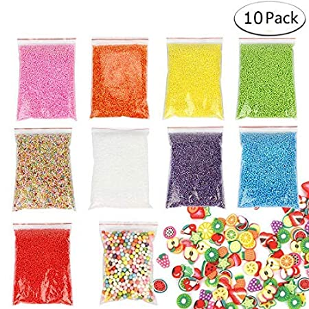 CLEARANCE - Slime Supplies Storage Containers with Lids 4.5oz,16 Pack Floam Beads Foam Balls Containers of Slime 46g & 3 Pcs Slime Mixing Spoons kits for Slime Beads, Leakproof Clear Plastic Organizer iBayam