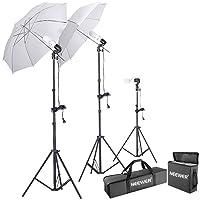 Neewer 600W 5500K Photo Studio Day Light Umbrella Lighting Kit Deals