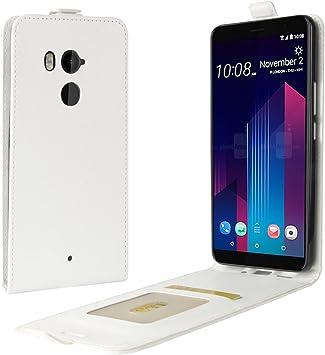 Funda® Capirotazo Billetera Funda para HTC U11 Plus (Blanco ...