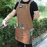 Mens Utility Apron for Shop Woordworking, Garden