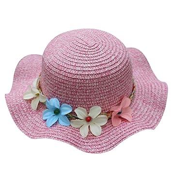 Y56 Verano Baby Gorro Sombrero Flores Sombrero Paja Sombrero Breathable  Niños Sombrero Sombreros Niño Niña Chica sombrero Cap niños 86c9f2e2e4f