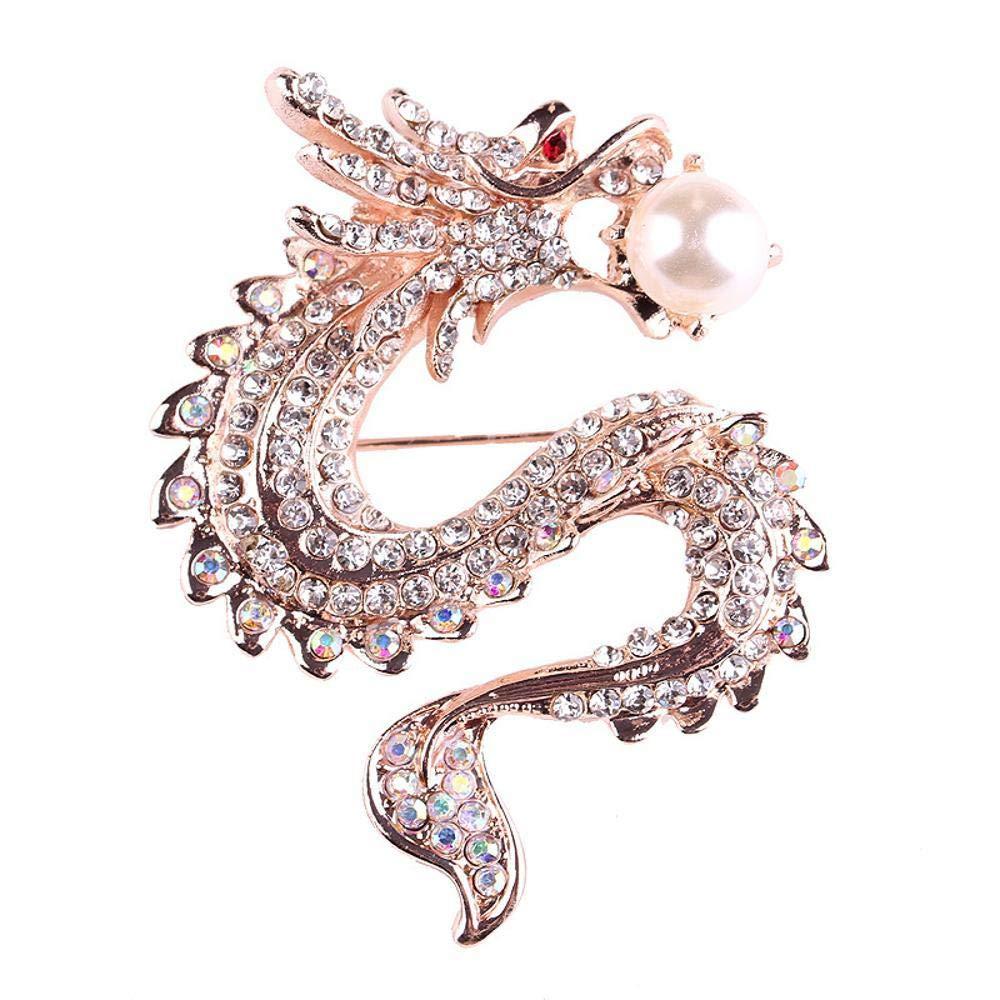 Hongge Broche Bijoux Mode Broche Perle Broche Hommes et Femme, Accessoires,Cadeau de Haute qualité