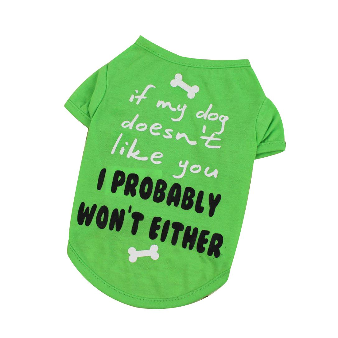 Howstar Pet Shirts Super Cute Printed Puppy T Shirt Dogs Clothes Vest Summer Tops Apparel (S, Green)