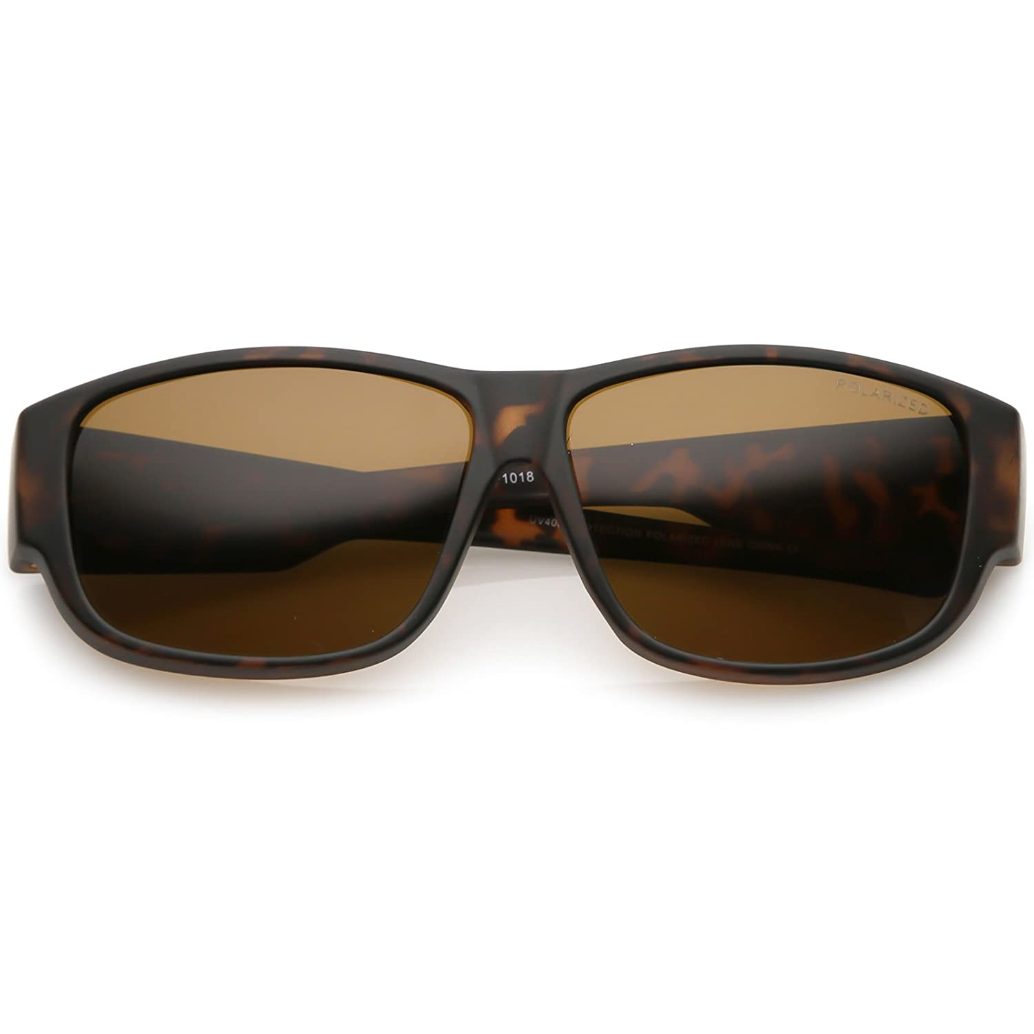 553927539c6 zeroUV - Thick Frame Wide Arms Square Polarized Lens Horn Rimmed Sunglasses  57mm