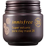 Innisfree Super Volcanic Pore Clay Mask 3.38 fl. oz. (100ml) - pore tightening, sebum control, dead skin cell exfoliating, deep cleansing, skin complexion improvement, cooling effect