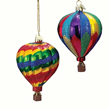 Amazon.com: Kurt Adler Noble Gems Hot Air Balloon Christmas ...