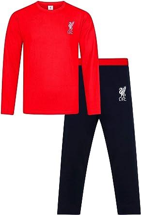 Liverpool Football Club Pyjama long pour homme Noir//rouge