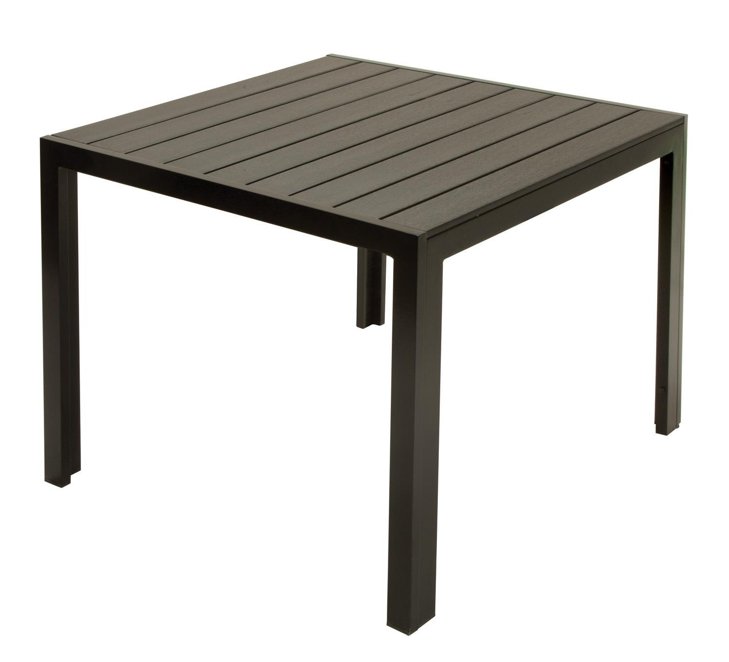 Amazon.com: Cosco Outdoor Resin Slat, Square Dining Table, 35.4 By  35.4 Inch: Kitchen U0026 Dining