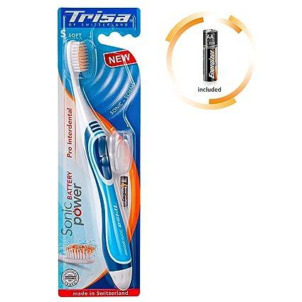 Trisa 678384 Sonic Cepillo de dientes eléctrico Power Batería, Azul