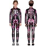 Kids Teen Boys Girls Bone Print Jumpsuit Scary