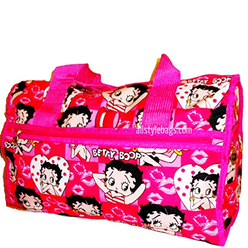 Footwear Betty - allofpurses - BettyBoop Betty Boop Black Duffel Shoulder Pink L 19