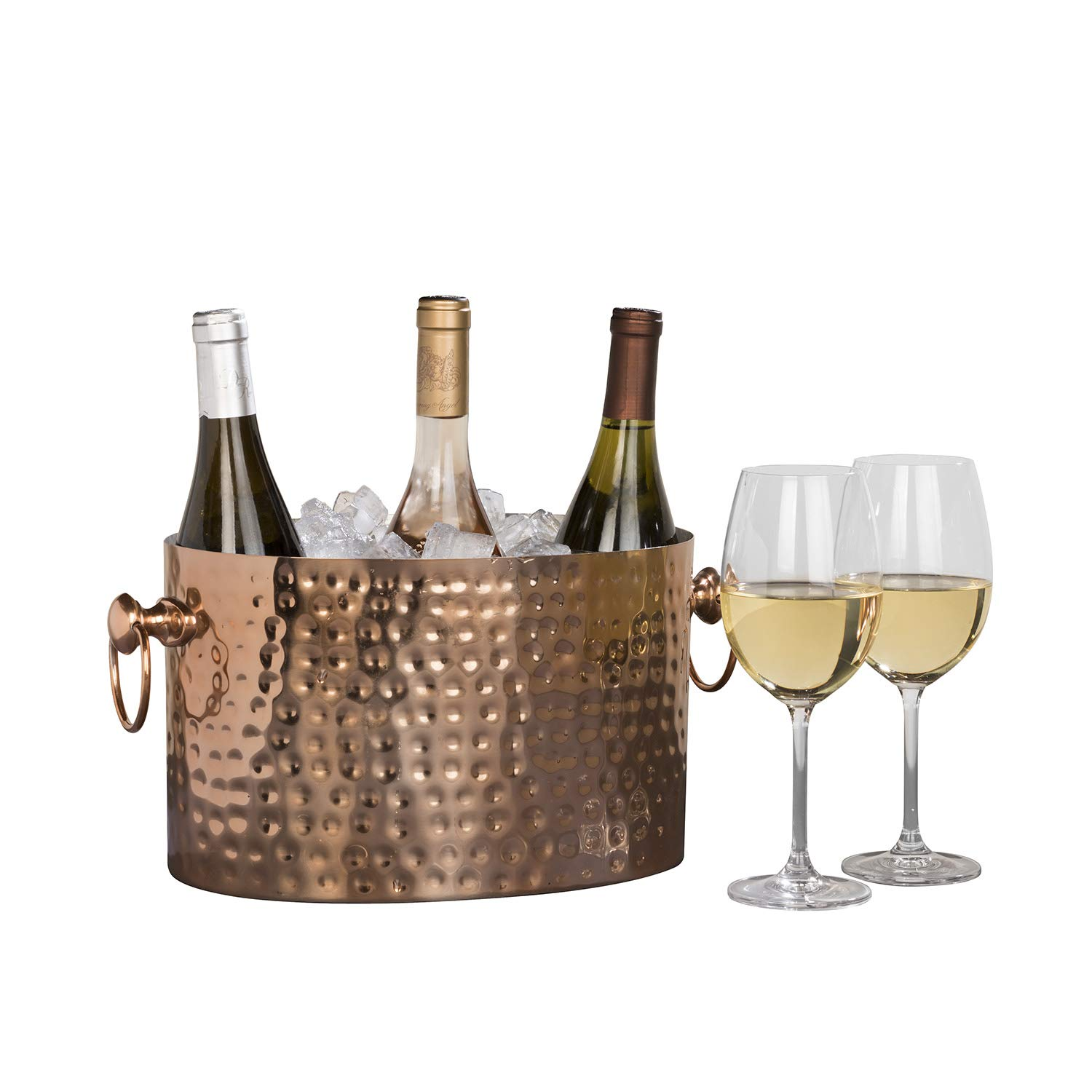 Chic Chill Handcrafted Artisan 3 bottle Champagne and Wine Chiller (Copper)