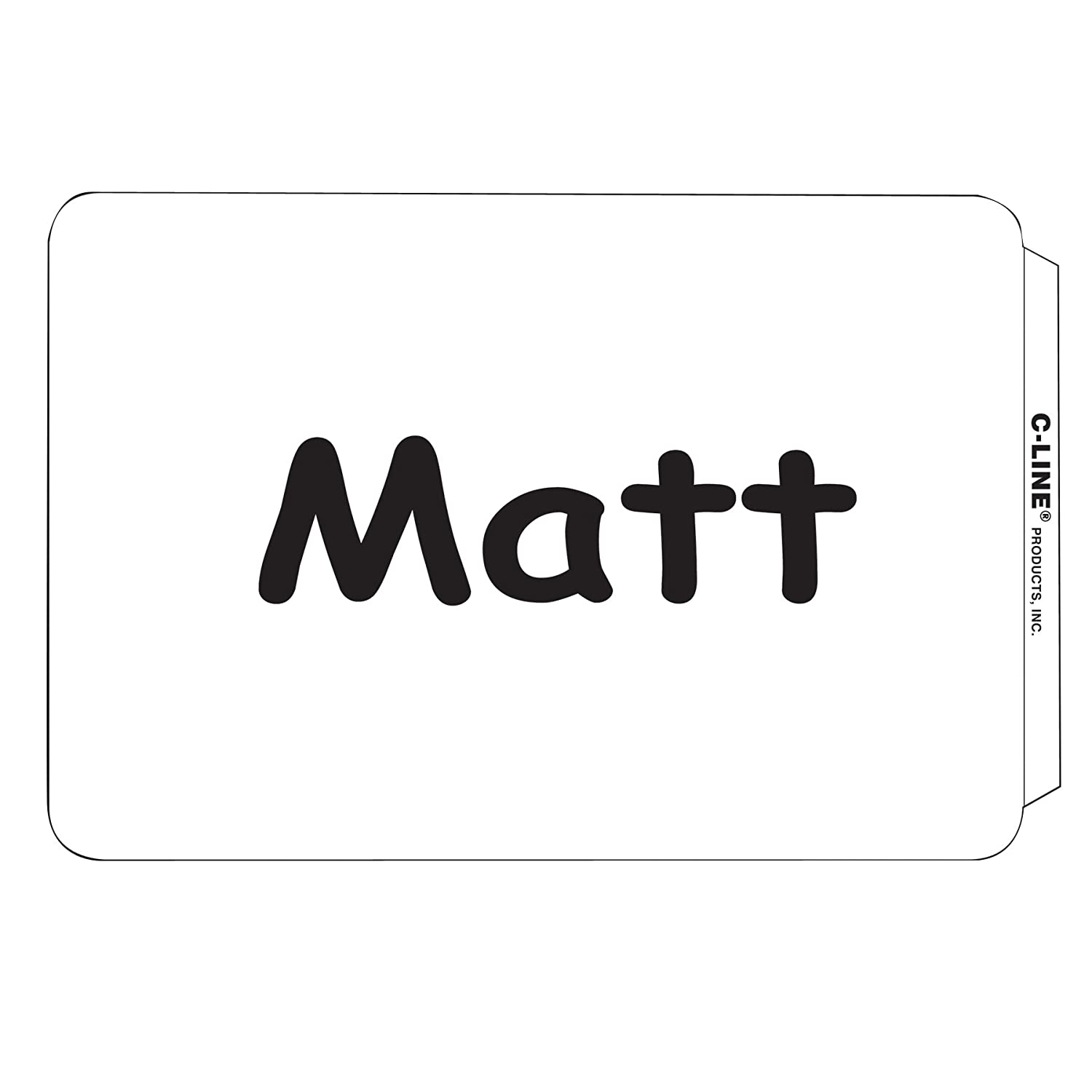 C-Line Self-Adhesive Name Badges, 2 x 3-1/2 Inches, Blue, 100/Box (92235) C-Line Products Inc.