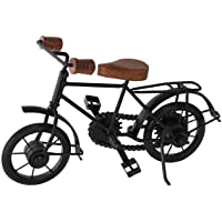 Perfect Handicraft Wooden & Iron Cycle Antique Home Decor Product (Black, 10 x 7 inch)