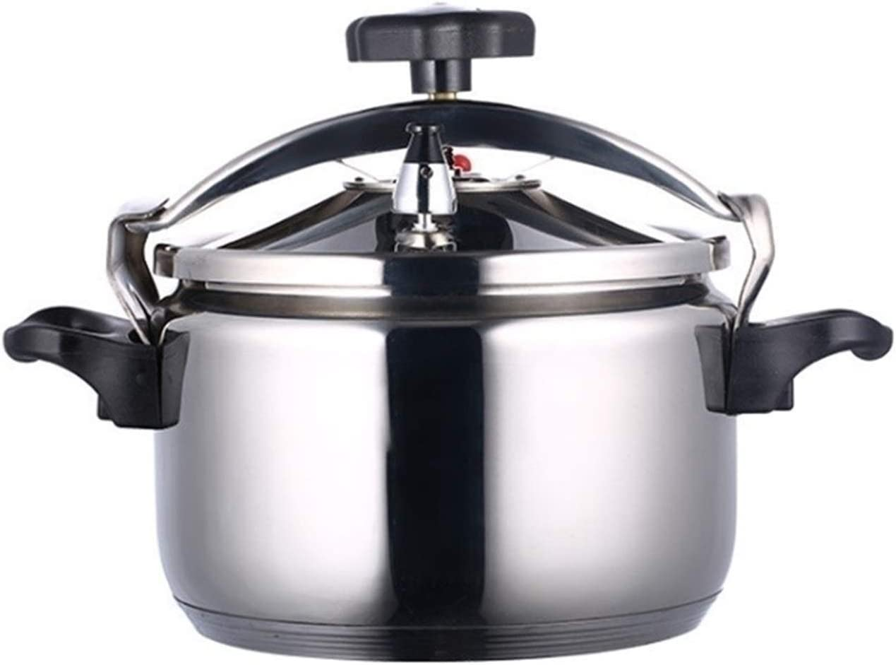 304 Stainless Steel Explosion-proof Pressure Cooker, Double Bottom Pressure Cooker Induction Cooker Gas Universal, Large Capacity Pressure Cooker Commercial (Color : Silver, Size : 20L)