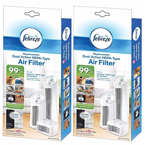 Febreze Replacement Dual Action Filter, 2-Pack (Filter Action)