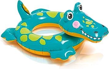 WENTS Animales Flotadores Anillo de natación para bebé, Flotador para bebé con Asiento Ideal para niños Piscina de natación, Bebé Flotador de natación con PVC para niños Entre 6-36 Mese 89x56cm