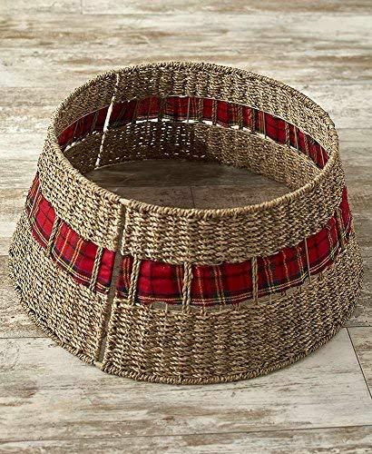 The Lakeside Collection Rattan Christmas Tree Collar - (Christmas Stand Basket Tree)