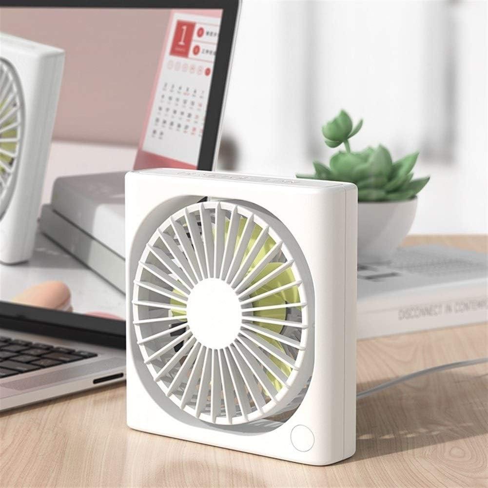 ZHANGQIAO-AE USB Portable Table Fan Desktop Enceinte Wind Mute Fan Office Home Outside Mini Fan Mini USB Desktop Fan Small Personal Silent Fan Por Color : White