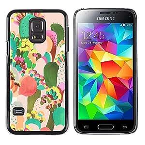 LECELL--Funda protectora / Cubierta / Piel For Samsung Galaxy S5 Mini, SM-G800, NOT S5 REGULAR! -- Desert Art Painting Watercolor --