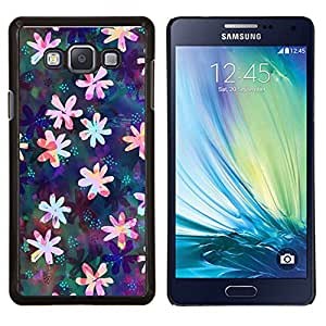 Stuss Case / Funda Carcasa protectora - Dibujo floral iridiscente Femenino - Samsung Galaxy A7 ( A7000 )
