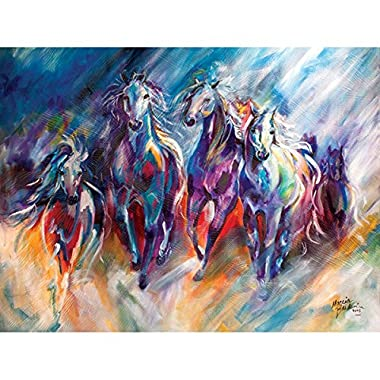 Westland Giftware Canvas Wall Art, Blue Thunder Run, 12 by 16