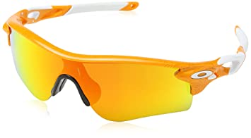 orange oakleys  Oakley Sunglasses Radar Lock: Oakley: Amazon.co.uk: Clothing