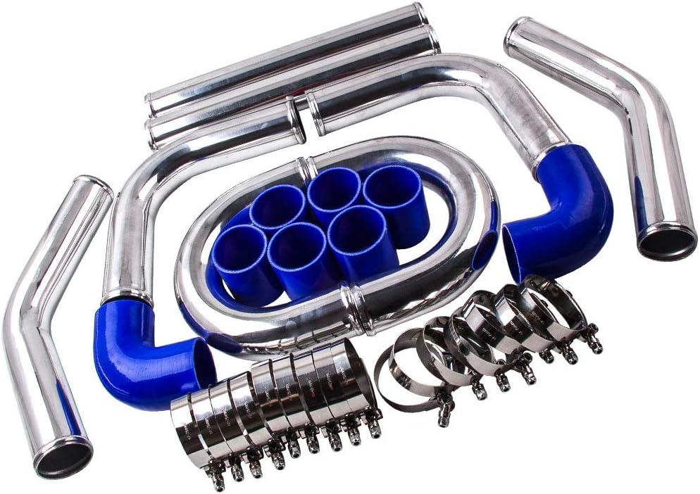 2.5 64mm Universal Intercooler Turbo Piping pipe Kit Aluminum Kit de manguera