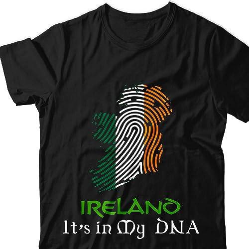 e8c77630 Ireland-Is-My-DNA Irish-Flag Roots-Patriot St-Patricks-Day Ireland-Patrick  Pajamas T-shirt Customized Handmade T-shirt Hoodie/Sweater/Long Sleeve/Tank  ...
