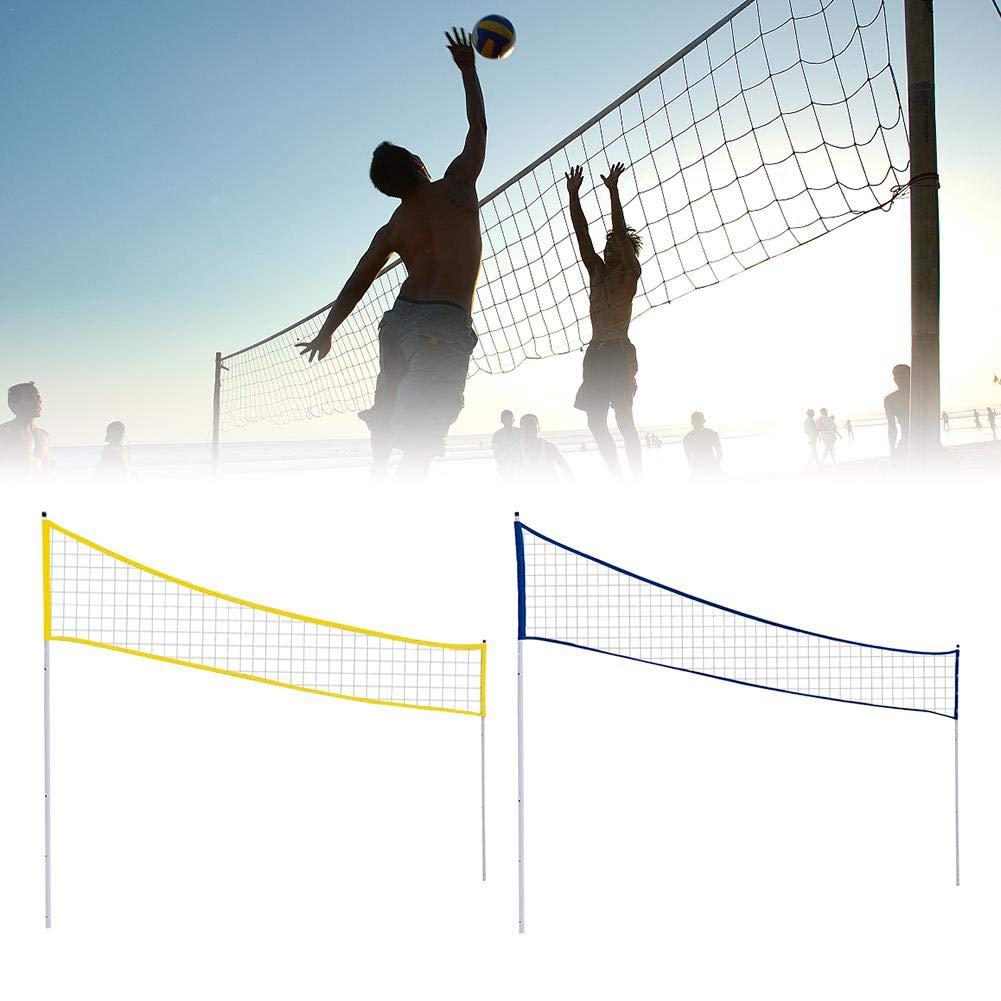 3 hauteurs MondayUp Filet de Volley-Ball r/églable et Pliable avec Support pour Plage Gazon Parc et lieux ext/érieurs