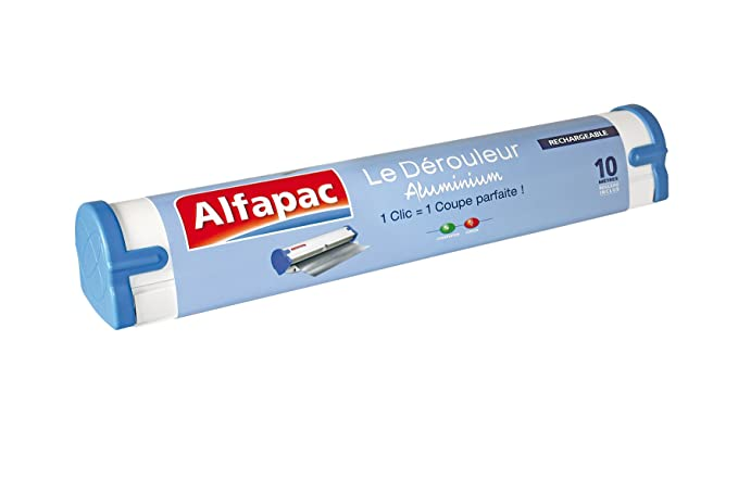 Alfapac - Papel de aluminio con dispensador, 10m