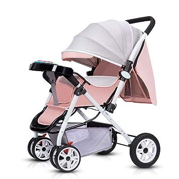WEHQ Silla de Paseo de Bebe 25 kg,Portátil Plegable Sentado Carro ...
