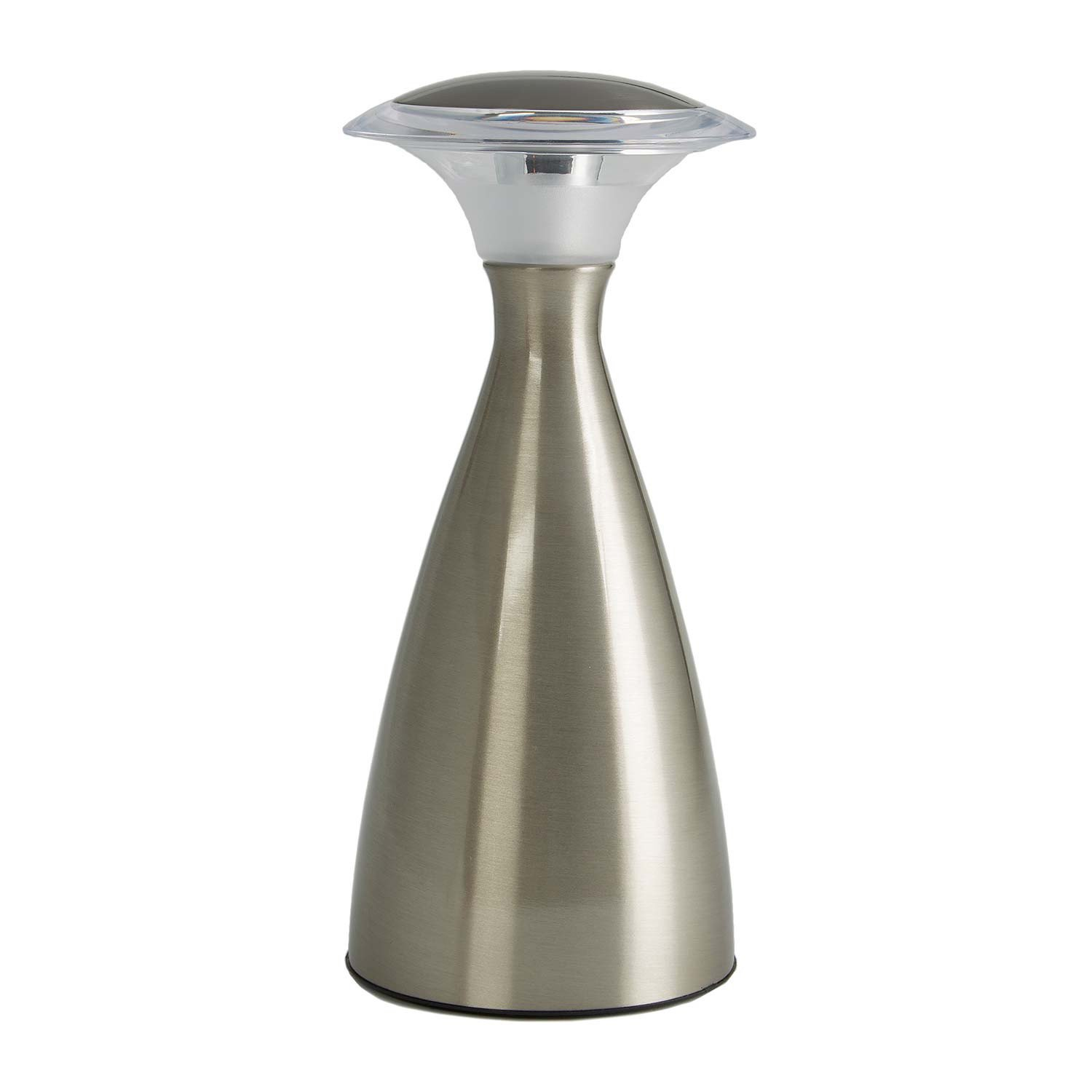 Light It! By Fulcrum, Lanterna LUX, Wireless 23-LED Touch Lamp, Battery Operated, Silver