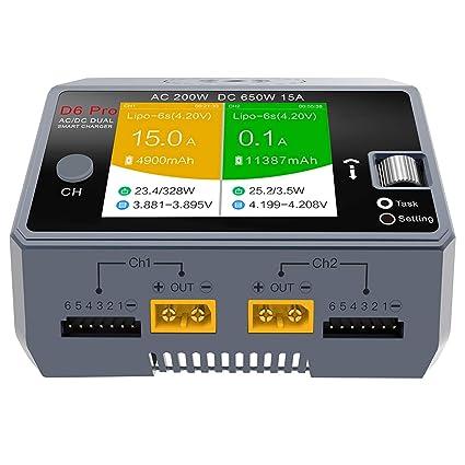 XZANTE D6 Pro Cargador Inteligente AC 200 W Dc650W 15A RC ...