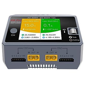 SODIAL D6 Pro Cargador Inteligente AC 200 W Dc650W 15A RC ...