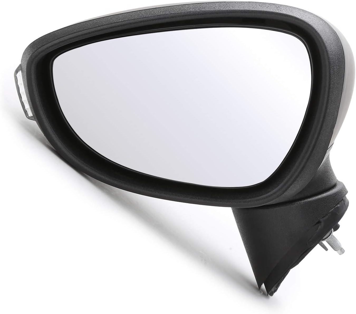 Coldshine Left Passenger Side Electric Door Wing Mirror Primed Cover For MK7 0812