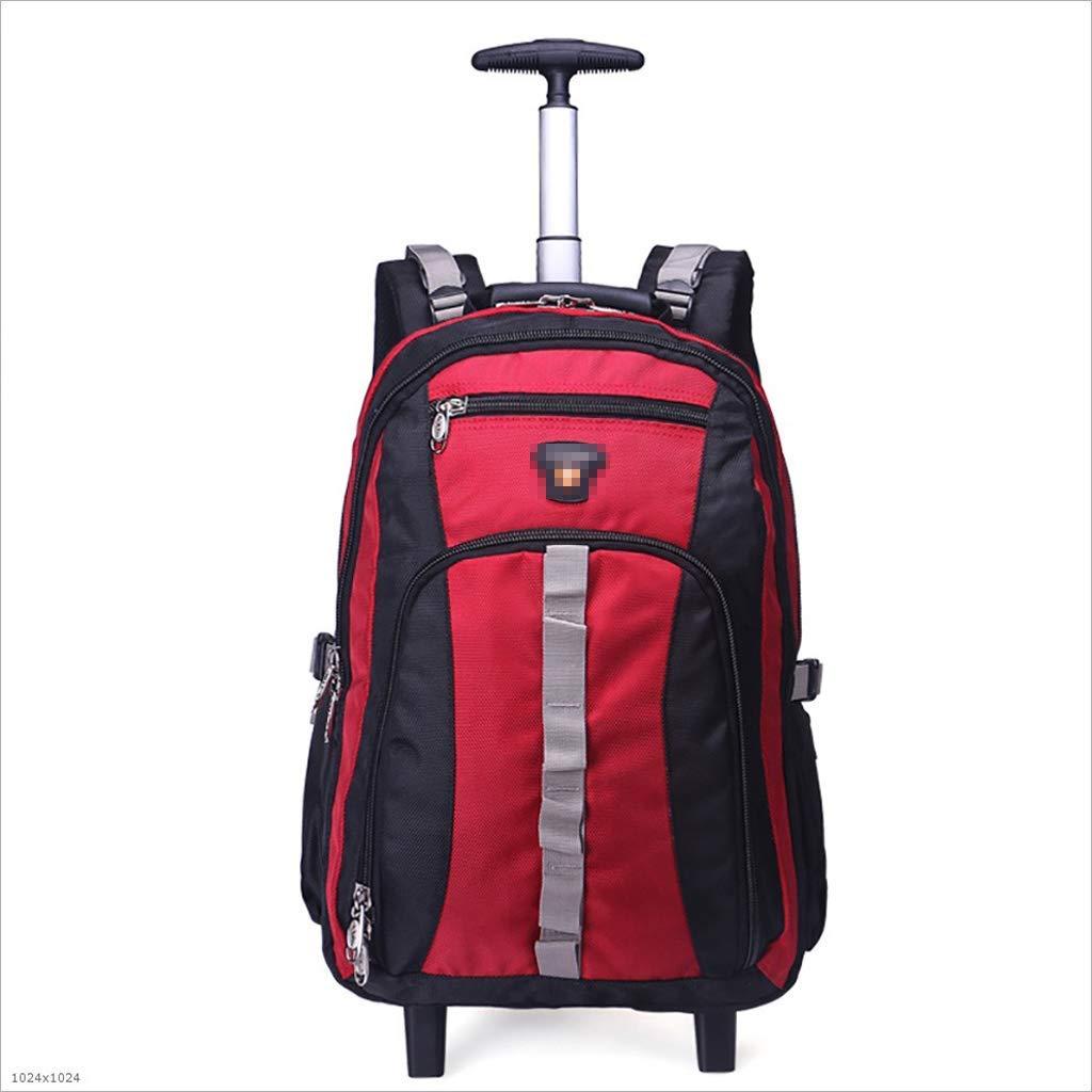 36-dianyejiancai 動かされるトロリーバックパック旅行袋の荷物のスーツケースの高容量の超軽量のトロリー袋搭乗袋 (Color : A, サイズ : H 48cm) B07S2P2K65 A H 48cm